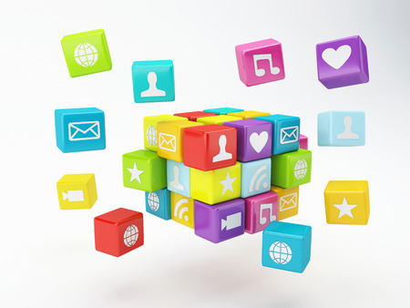 mobile phone app icon  software concept photo