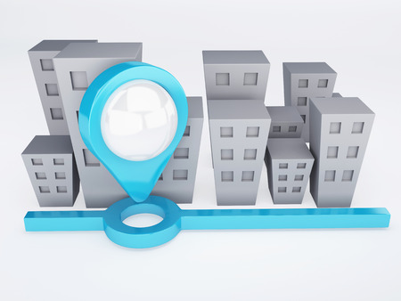 city with map Pointers  gps concept Stock Photo
