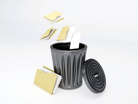 Trash folder on white background photo
