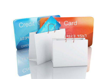 3d credit cart  shopping concept photo