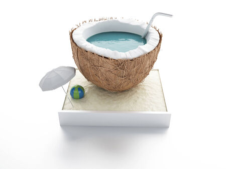 coconut paradise. summer concept photo