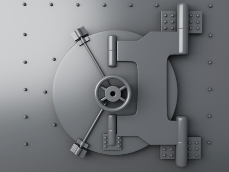 bank protection: Bank vault closed. Bank Safe, security concept
