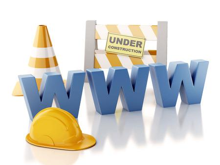 構造の概念の下のウェブサイト。3 d イラスト 写真素材