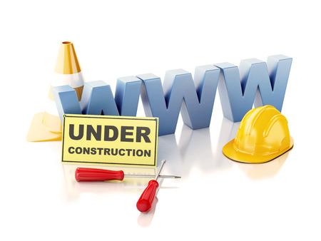 Website under construction concept. 3d illustration illustration