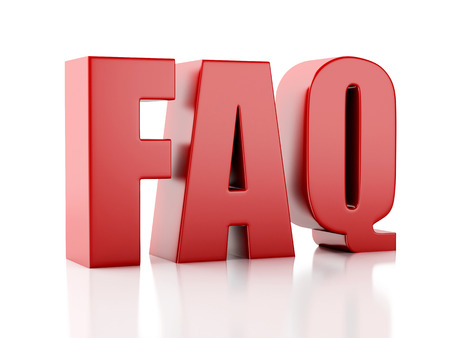 frequently: Frequently Asked Questions. FAQ concept. 3d illustration
