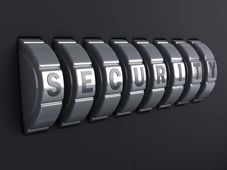 Security password. combination alphabet concept. 3d illustration