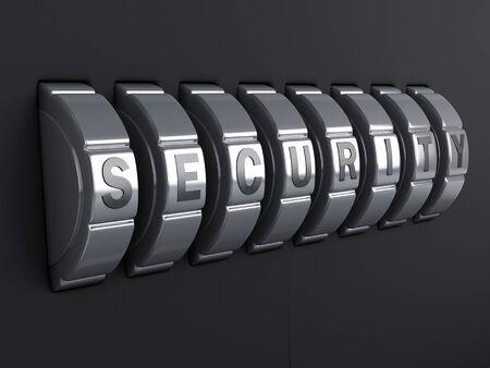 entry: Security password. combination alphabet concept. 3d illustration