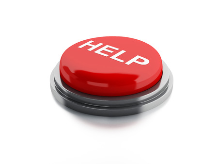 Red help button. 3d illustration illustration
