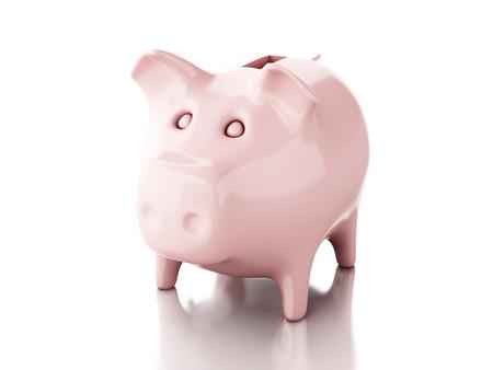 Piggy bank. 3d illustration illustration