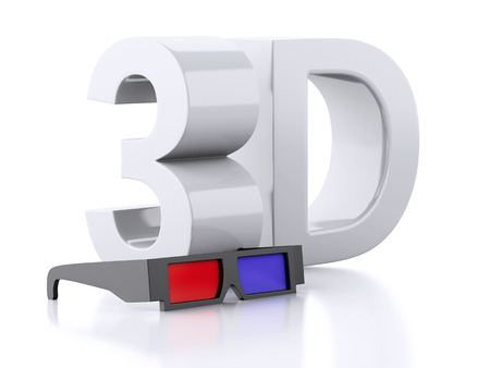 3d glasses. cinematography concept. 3d illustration illustration