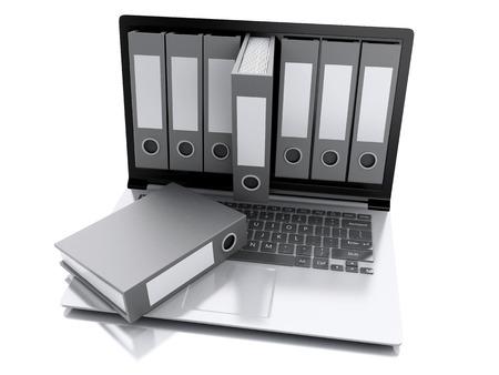 image of 3d Archive concept.  photo
