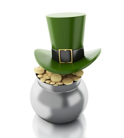 3d renderer illustration. St. Patrick illustration