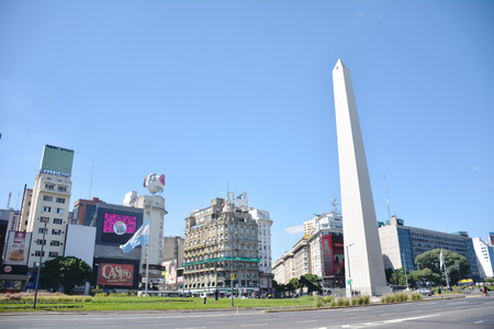 obelisco: The Obelisco, famous landmark  in Buenos Aires. Argentina Editorial