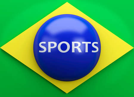 finalist: 3d illustration. Brazil flag. Rio de Janeiro 2016
