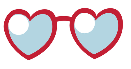 sunglasses reflection: Heart Sunglasses on white background. Love concept. Vector illustration. Illustration