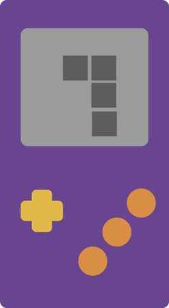 handheld device: Vector illustration of a retro portable handheld gaming device. Videogame concept.