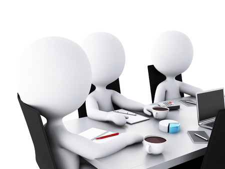 stockholder: 3d renderer image. Business people in a Office meeting room. Business partners Stock Photo