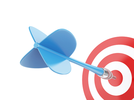 3d renderer image. Arrow in target. Concept of success on white background Stock Photo - 46391588