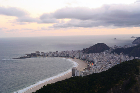 corcovado: Vista de la de Janeiro, Brasil, en la noche. Foto de archivo