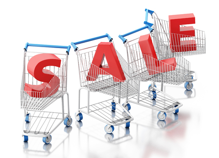 3d rendered illustration. Sale concept. Isolated white background Stock Photo