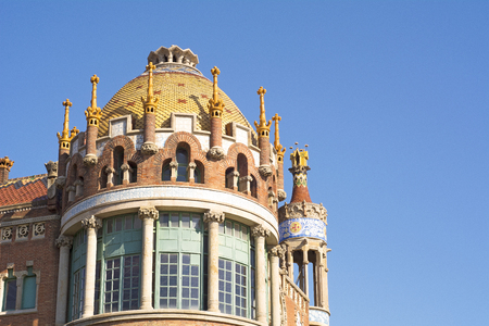 Detail of Hospital Sant Pau in Barcelona, ??Catalonia, Spain