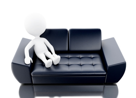 Super 3D Man Tired Sleeping On The Couch Stock Photo Picture And Unemploymentrelief Wooden Chair Designs For Living Room Unemploymentrelieforg