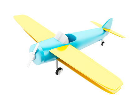 simulator: 3d illustration. Toy plane. Airplane on Isolated white background Stock Photo