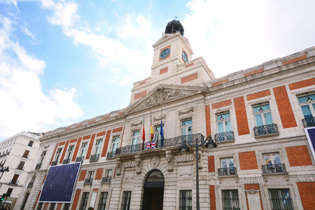 The old post office (Real casa de correos) building in Madrid, Spain.