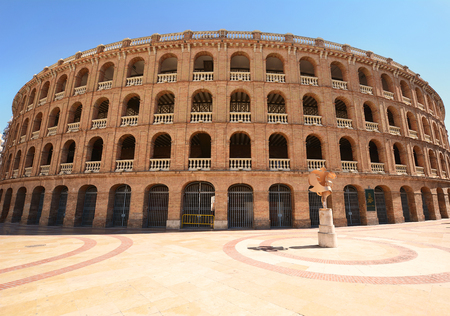 corrida de toros: Bullring arena (Plaza de Toros) in the city of Valencia, Spain.