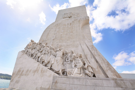The Monument of the Discoveries (Padrao dos Descobrimentos) in Lisbon, Portugal.