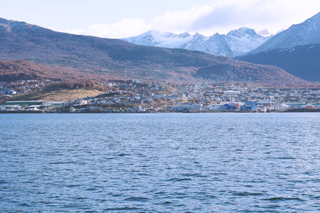 View of the city of Ushuaia, Tierra del Fuego, Argentina.