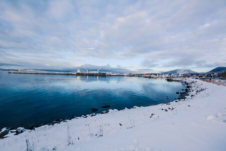 View of beautiful Ushuaia in winter. Patagonia, Argentina, South America