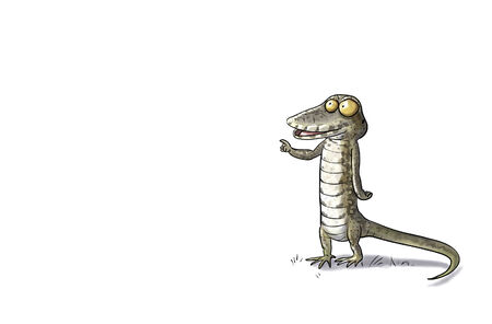 toon: Digital toon  illustration of a lizard isolated Stock Photo