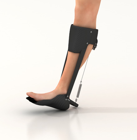 locomotion: 3d render of a unpowered human exoskeleton