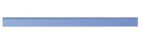 office tool: Digital illustration of a blue plastic ruler isolated