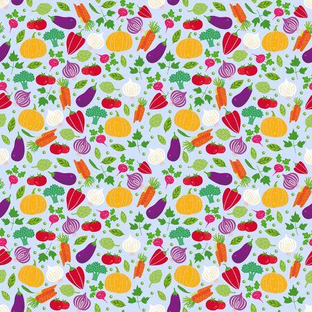 vegatables: Digital seamless illustration of some vegatables