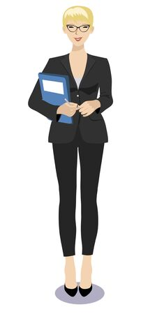 woman vector: Vector illustration of a business woman standing
