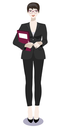 Vector illustration of a business woman standing