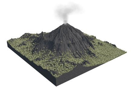 Digitale illustratie van delen van een vulkaan Stockfoto - 90776117