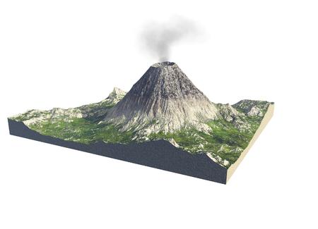 Digitale illustratie van delen van een vulkaan Stockfoto - 90799654