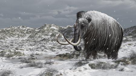 Digitale illustratie van een mammoet