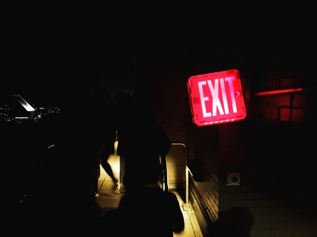 dark exit door new york
