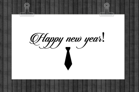 Collection annotations Blocks: Happy New Year. Stock Photo