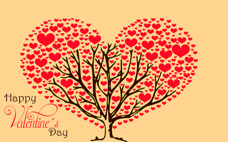 love tree: Tree of Love - A tree filled with peace, love and good wishes