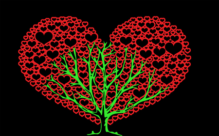 good wishes: Tree of Love - A tree filled with peace, love and good wishes