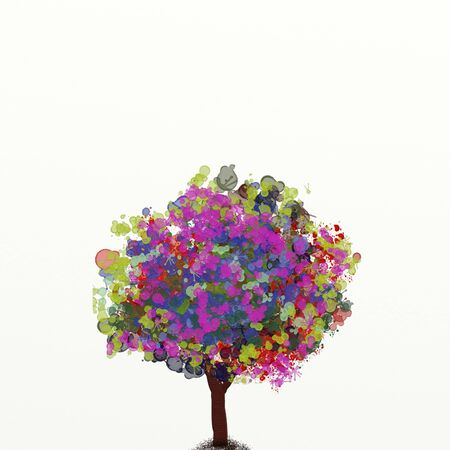 enchanted: watercolor enchanted Stock Photo
