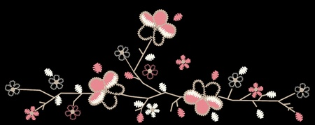 applique flower: Cherry Blossom Embroidery