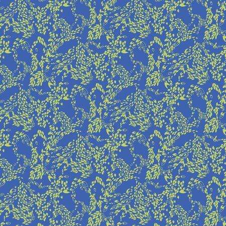 allover: Leaf Swirl Allover Seamless Tile