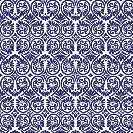 Ornate Seamless Tile Wallpaper Vector