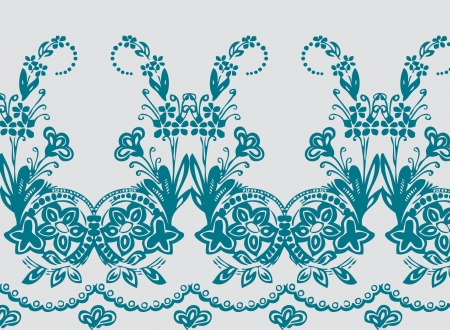 Antique Border Seamless Horizontal Tile Vector